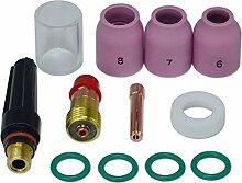 WIG Stubby Gas Objektiv 17GL332 2,4mm Pyrex-Becher