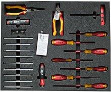 Wiha Heimwerker-Werkzeugsatz, Set 33-tlg. Mit Schaumstoff-Einlage