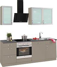 wiho Küchen Küchenzeile Peru, mit E-Geräten,