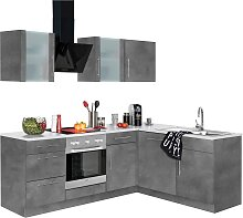 wiho Küchen Winkelküche Cali, mit E-Geräten,
