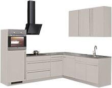 wiho Küchen Winkelküche Chicago, mit E-Geräten,