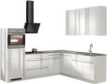 wiho Küchen Winkelküche Chicago, ohne E-Geräte,