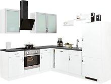 wiho Küchen Winkelküche Peru, mit E-Geräten,
