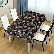 WIHVE Rechteckige Tischdecke Tischdecke waschbar