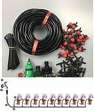 Wiiguda@ DIY Bewässerung Set, Micro Flow Drip, Automatische Bewässerung Set, 25m länge Schlauch,4/7 29 T-Gelenke,30 Drippers,für Garten.