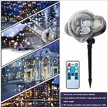 Wiiguda@Outdoor projektor lampe Weihnachten Schnee
