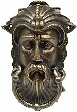 Wikinger Kopf Türklopfer Eisen Bronze Farbe nordischer Männerkopf Tür Klopfer