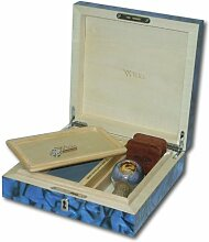 Wikka - Humidor Box 8x8 Aufbewahrungsbox Blau