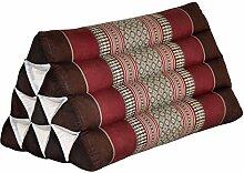 Wilai Kapok Thaikissen, Dreieck (82500 - braun/rot)