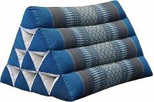 Wilai Kapok Thaikissen, Dreieck (82600 - blau/grau)