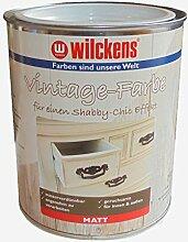 Wilckens 750 ml Vintage-Farbe, Weiß Matt, Shabby
