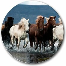 Wilde Pferde, Running rund Mousepad Mauspad tolle Geschenkidee