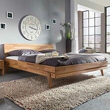 Wildeiche Bett massiv geölt 200x200