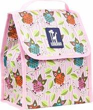 Wildkin Pink Lunchbox, für Kinder, Eule, bun
