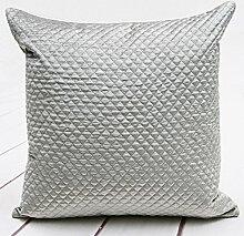 Wildleder Kissen solid-Kissen Sofakissen Bett Kissen-D 50x50cm(20x20inch)