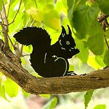 Wildlife Garden Silhouette Gartendeko Gartenfigur Eichhörnchen