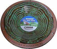 Wildlife World EBB Echoes Vogelbad - frostsichere Keramik mit 3 satinierten Fussen