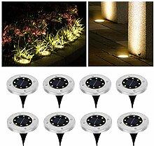 Wilktop Solarleuchten für Garten Solarlampe Lampe