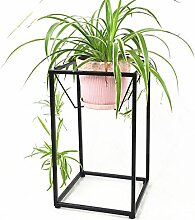 William 337 Iron Flower Rack, Wohnzimmer Blumentopf Rack Balkon Bonsai Rahmen Pflanze Display Stand ( Farbe : Schwarz , größe : 30*30*80CM )