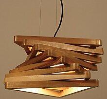 William 337 LED-Holz-Kronleuchter, Kaffeestube