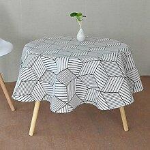 William 337 Runde Tischdecke aus Baumwolle -