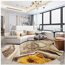 William 337 Runder Teppich, Wohnzimmer mit hoher