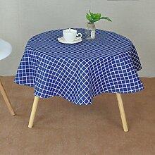 William 337 Tischdecke, rund, aus Baumwolle, 2 cm,