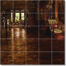 William Chase City Badezimmer Fliesen Wand 13. 152,4x 152,4cm mit (25) 12x 12Keramik Fliesen.