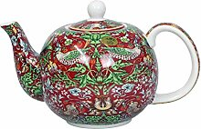 William Morris' Red Tea Pot Strawberry Thief