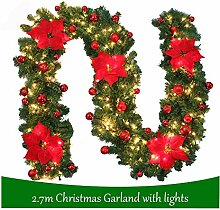 willkey 2.7m Weihnachtsgirlande Tannengirlande Mit