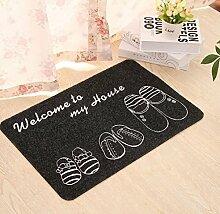 Willkommen Bedruckte Bodenmatte Teppich Küche Rutschfeste Korallen Fleece Fußmatte , 4 , 50*80cm