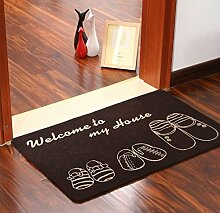 Willkommen Bedruckte Bodenmatte Teppich Küche Rutschfeste Korallen Fleece Fußmatte , 2 , 40*60cm