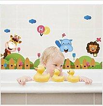 Willkommen in meiner Heimat Zeichen Cartoon eingezäunt Kinder-Zimmer Wohnzimmer Bad dekorative Wandtattoos