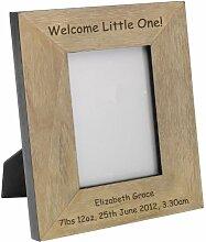 Willkommen, kleine Holz-Fotorahmen, 12,7 x 17,8 cm, personalisierbar, Geschenkidee, Hochzeitsgeschenk, persönliche Geschenk