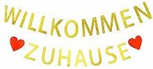 Willkommen Zuhause Girlande Vintage Welcome Back