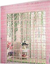 Willow Linie Tür Schnur-Vorhang-Fenster-Panel Paravent Streifenvorhang, Rosa