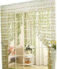 Willow Linie Tür Schnur-Vorhang-Fenster-Panel Paravent Streifenvorhang, Gold