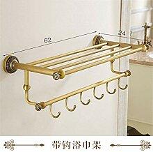 Willsego Antik-Messing Handtuchhalter-Regal