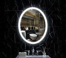 Willsego LED Oval Spiegel mit Touch Sensor