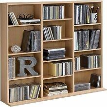 WILMES CD-Regal mit 13 Fächern, Spanplatte