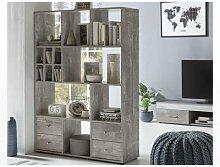 Wilmes Regal Raumteiler mit 4 Schubladen und 13