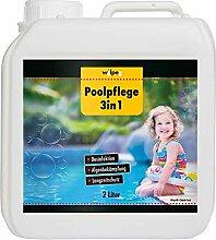 WILPEG Poolpflege 3in1 2 Liter, Chlor