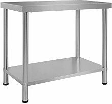 Wiltec Edelstahl Tisch Arbeitstisch Edelstahltisch