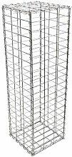 Wiltec Gabione 100x50x30cm Steingabionen Steinkorb
