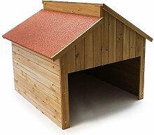 Wiltec Garage für Mährobotor aus Holz für alle