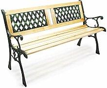 Wiltec Gartenbank Sitzbank Juliane aus Holz und