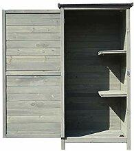 Wiltec Gartenschrank aus Holz 69,5x52x142cm mit