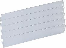 Wiltec - Rasenkante aus verzinktem Metall 20m