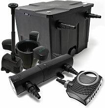 Wiltec - Set: Teichfilter 12000l SuperEco 80W