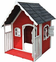 Wiltec - Spielhaus für Kinder aus Holz mit